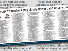 The cap on teachers' pay simply doesn't add up any more