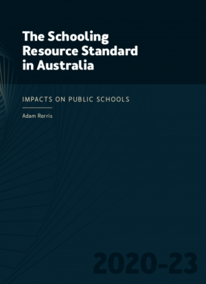 Cover of the Schooling Resource Standard in Australia report
